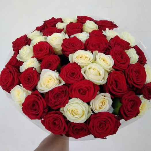 Красное белое: букеты цветов на заказ Flowwow