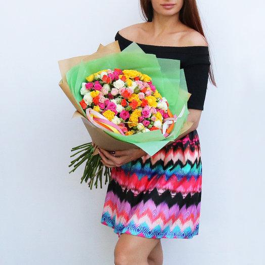 Большой букет кустовых роз: букеты цветов на заказ Flowwow