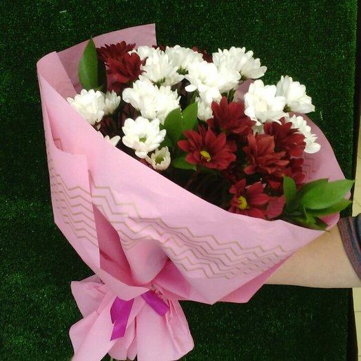 Букет из кустовых хризантем : букеты цветов на заказ Flowwow