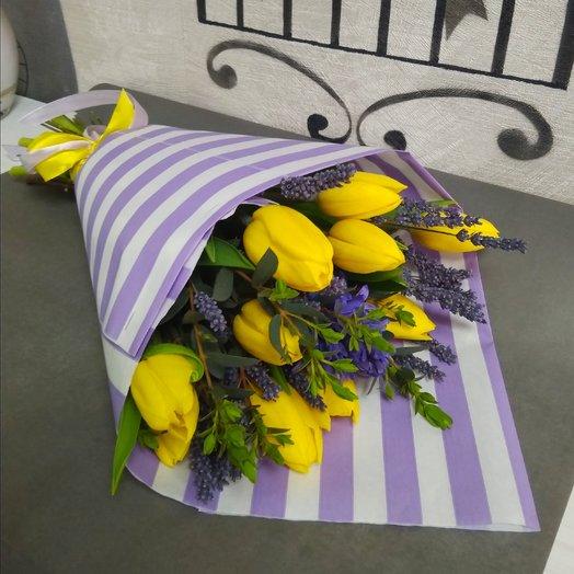 Букет из тюльпанов с гиацинтом