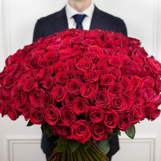 Букет из 151 эквадорской розы: букеты цветов на заказ Flowwow