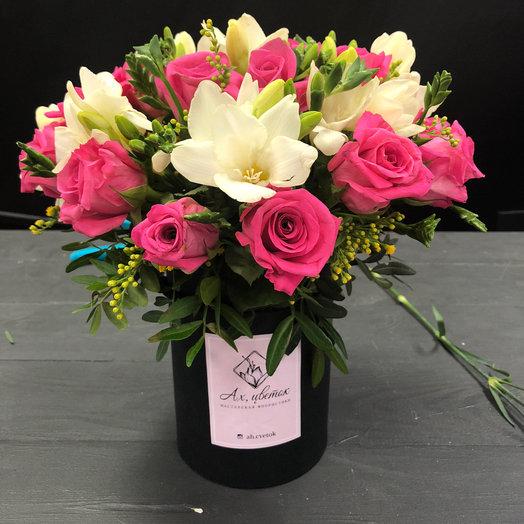 Сборная композиция в шляпной коробке : букеты цветов на заказ Flowwow