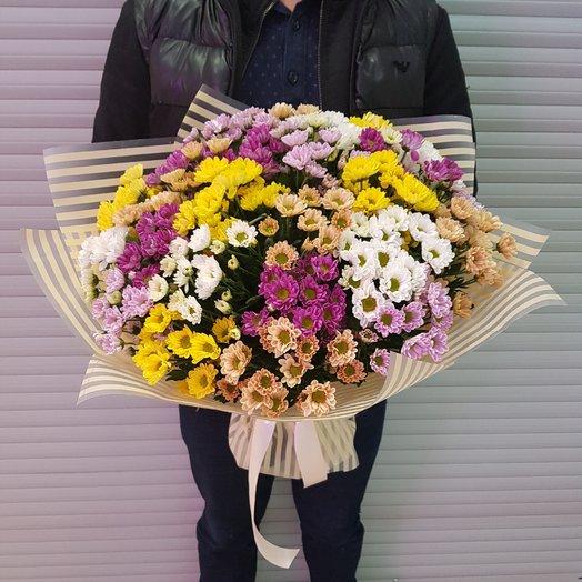 Букет из хризантем. 25 хризантем.: букеты цветов на заказ Flowwow