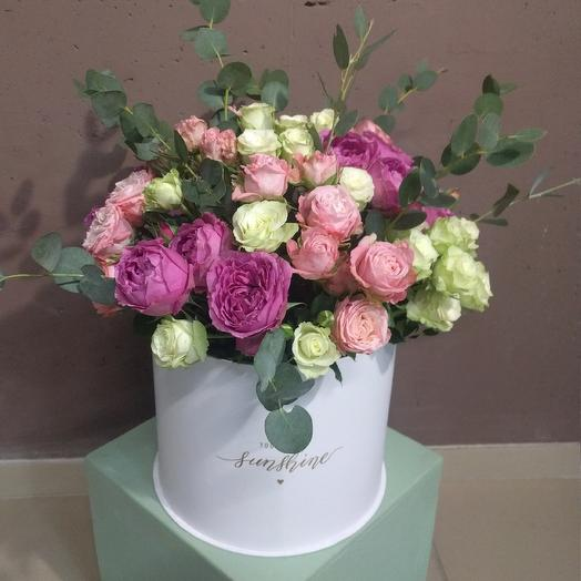 """Коробка """"Помпоны"""": букеты цветов на заказ Flowwow"""