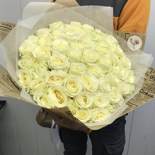 Букет из 51 розы Аваланж: букеты цветов на заказ Flowwow