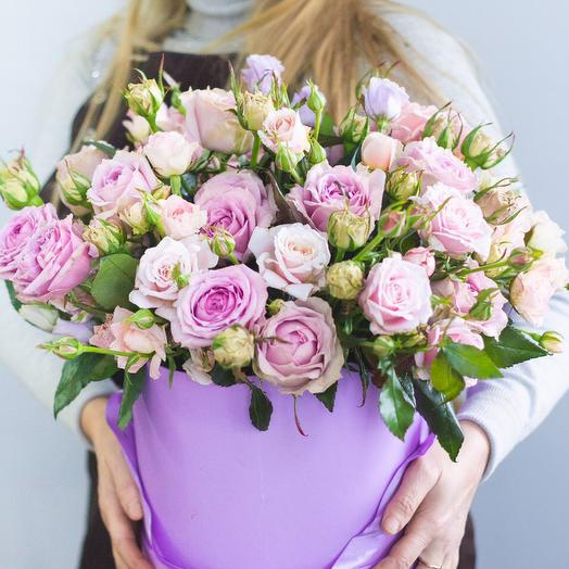 Сиреневая коробка: букеты цветов на заказ Flowwow