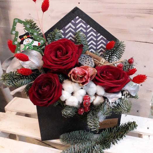 Новогоднее письмо: букеты цветов на заказ Flowwow