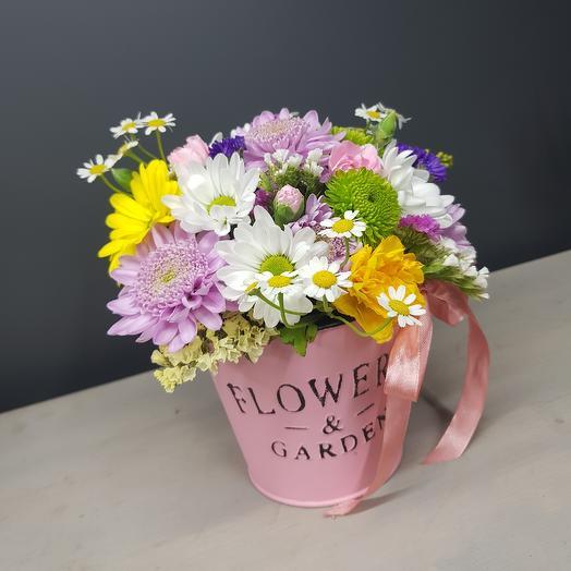 Весеннее кашпо: букеты цветов на заказ Flowwow