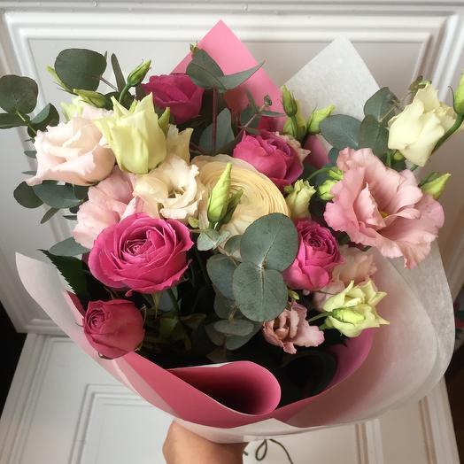 «Роза и фуксия»: букеты цветов на заказ Flowwow