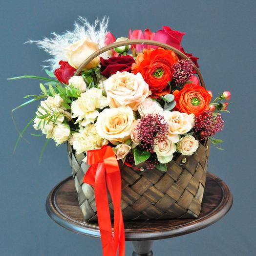 """Корзина """"Дикие ягоды"""": букеты цветов на заказ Flowwow"""