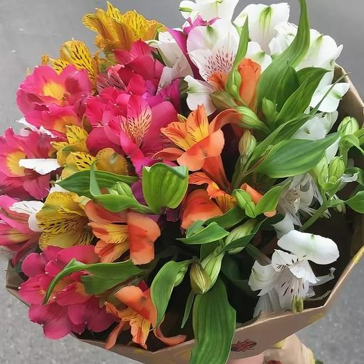 Bouquet of 9 mixed alstroemeria: flowers to order Flowwow