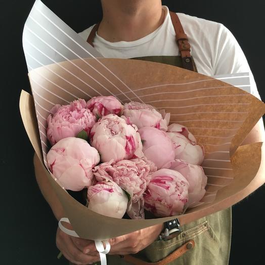 11 пионов Сара Бернар - 3: букеты цветов на заказ Flowwow