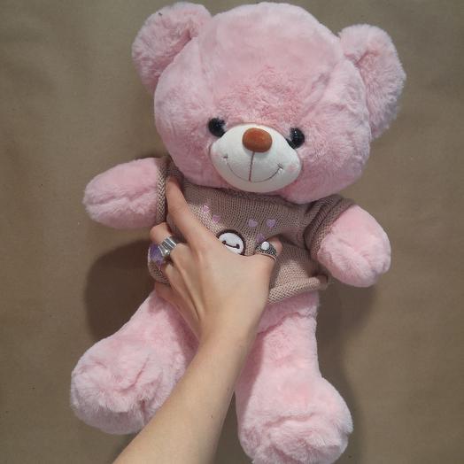 Розовый мишка: букеты цветов на заказ Flowwow