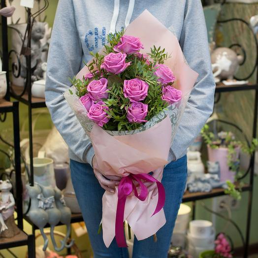 "Букет цветов ""Розовые розы"": букеты цветов на заказ Flowwow"