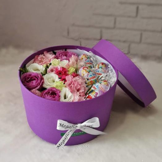 Коробка с сюрпризом: букеты цветов на заказ Flowwow