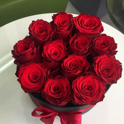 Красное моно из роз