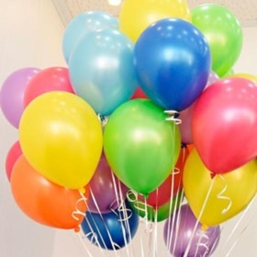 25 гелиевых шаров микс