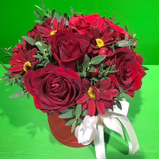 Огненная коробочка: букеты цветов на заказ Flowwow