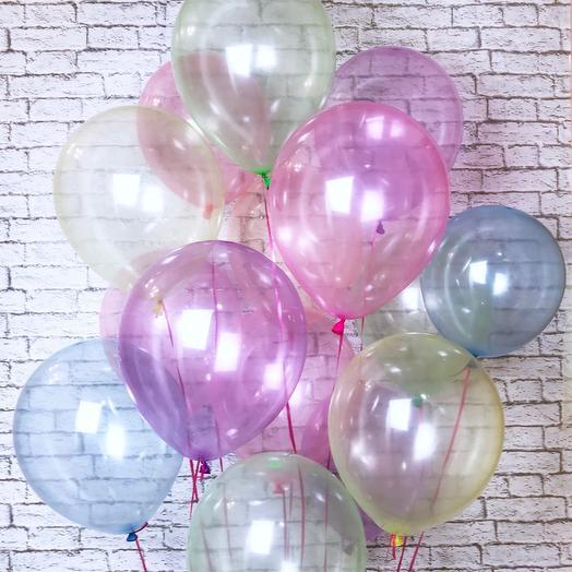 15 шариков хрусталь: букеты цветов на заказ Flowwow