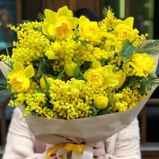Букет цветов «Яркое солнце»