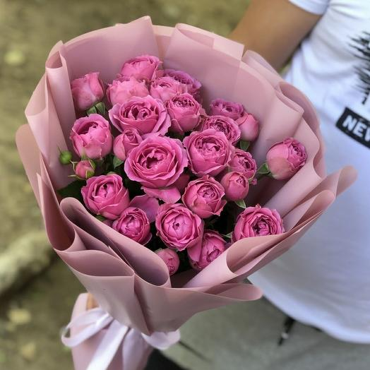 "Букет из 9 роз ""мисти баблз"""