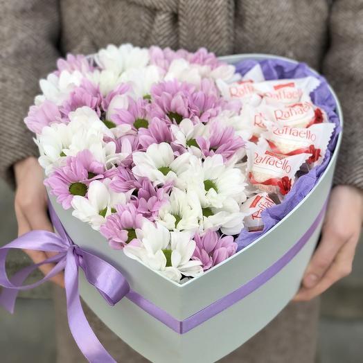 Коробочка из хризантемы Сердце красавицы