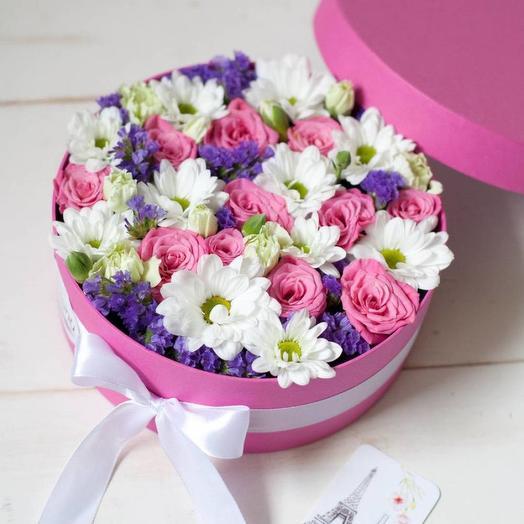 Цветочный микс в коробке