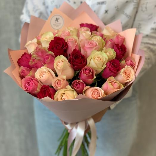 Букет из 39 роз Кения