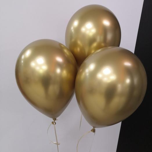 3 золотистый шара