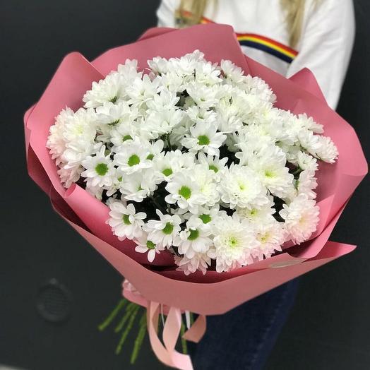 Нежный букет из хризантем