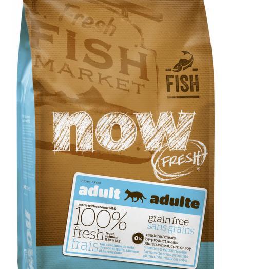 NOW FRESH беззерновой сухой корм для кошек с форелью и лососем для чувствительного пищеварения 1,81 кг