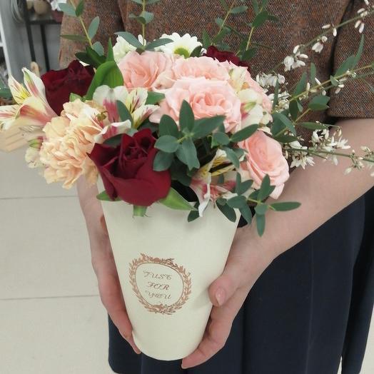 Цветы в коробке для Татьяны)