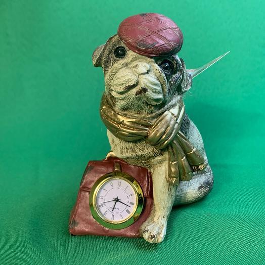 Статуэтка «мопсик с часами»