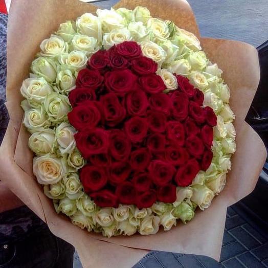 Возьми мое Сердце 101 роза