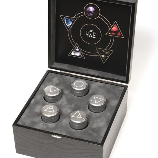 """Подарочный набор чая """"Габа 5 элементов"""" эксклюзивная коллекция ЧаЕ в деревянной шкатулке"""