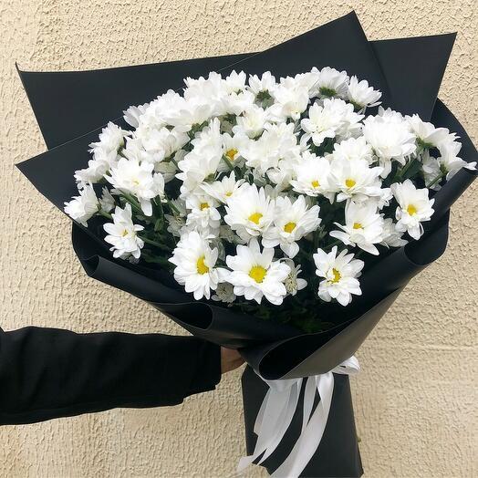 Хризантемы в черном