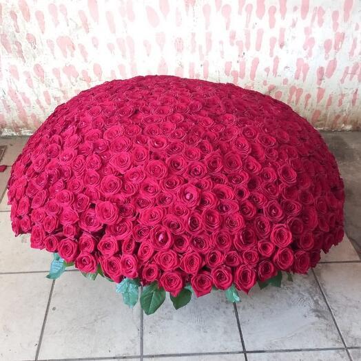 Корзина из красная роза