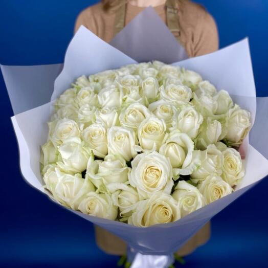 Монобукет из 51шт роз