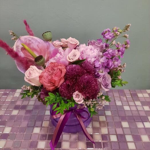 Фиолетовая коробка
