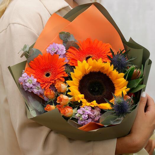 Букет цветов Луч солнца