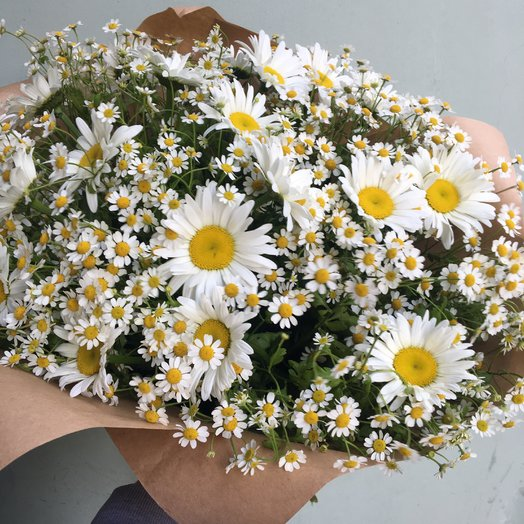Ромашковый микс: букеты цветов на заказ Flowwow