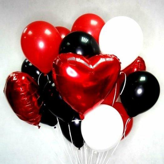 """Воздушная композиция """" Горячее сердце"""": букеты цветов на заказ Flowwow"""
