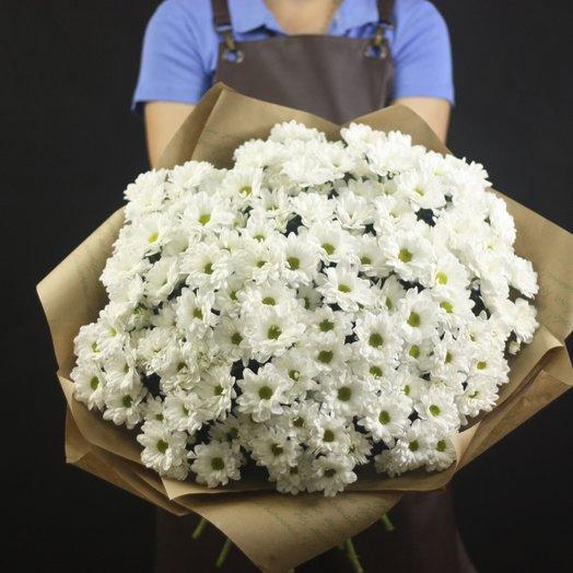 Букет из 19 белых хризантем: букеты цветов на заказ Flowwow