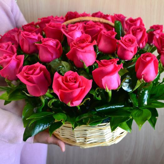 Корзина 29 роз: букеты цветов на заказ Flowwow