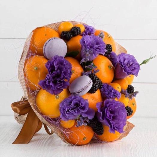 Фруктовый букет «мандарин»: букеты цветов на заказ Flowwow