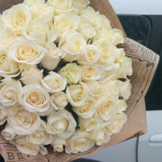 Букет из белых роз))))