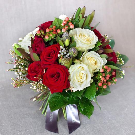 """Большой букет """"Вена"""": букеты цветов на заказ Flowwow"""