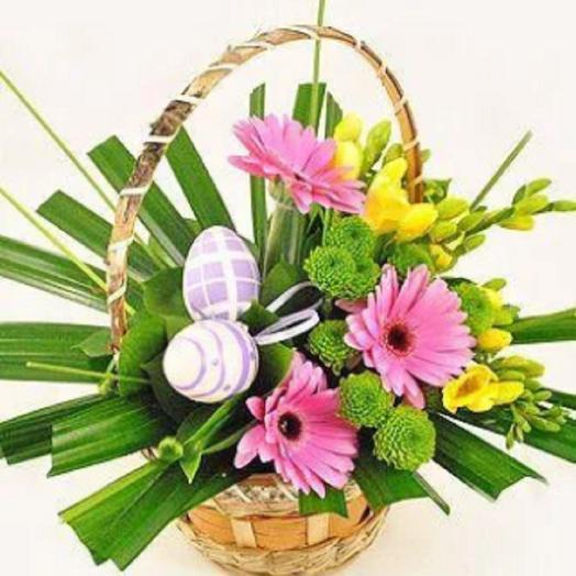 Пасхальная корзиночка: букеты цветов на заказ Flowwow