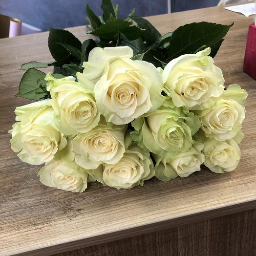 Букет крупных белых роз Премиум 11 шт