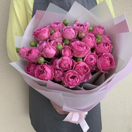 Букет из пионовидной розы Мисти Баблз